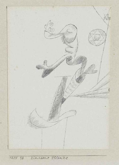 Paul Klee-Einsame Pflanze-1915