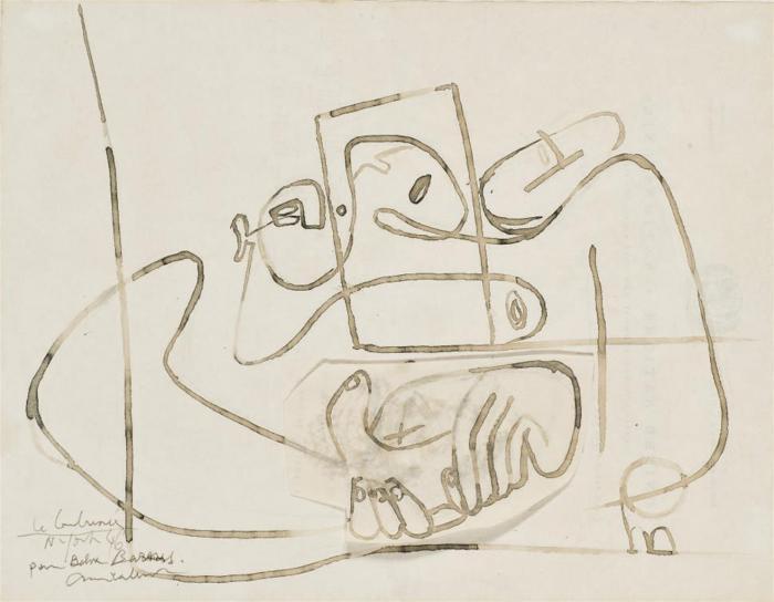 Le Corbusier-Les mains (etude pour une estampe eponyme)-1946