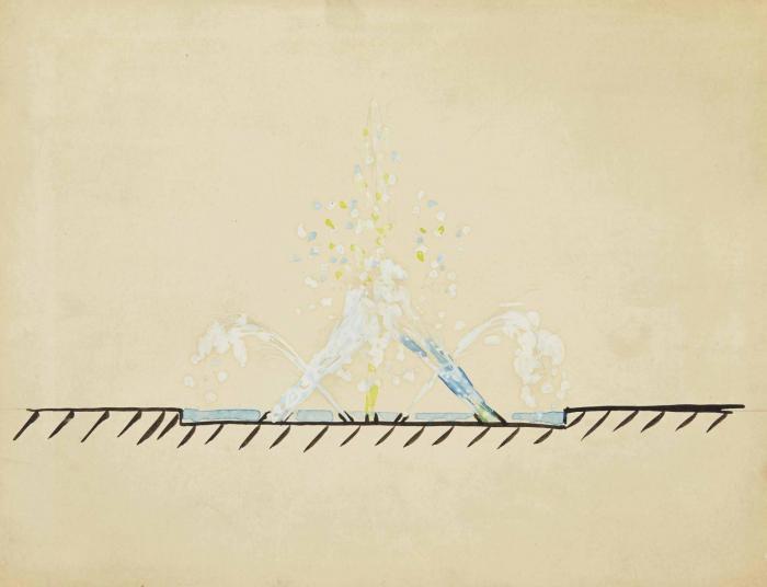 Yves Klein-Projet pour une fontaine d'eau-1958