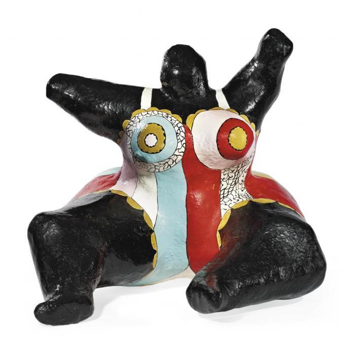 Niki de Saint Phalle-Nana noire assise-1969