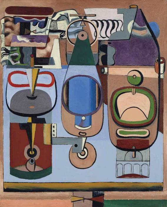 Le Corbusier-Trois bouteilles (bleu)-1928