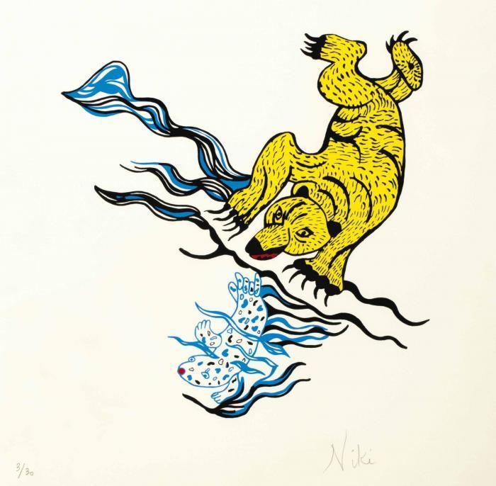 Niki de Saint Phalle-Ours et Phoque-1994