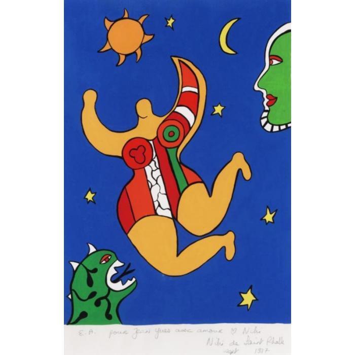 Niki de Saint Phalle-Nana, (Ange (jaune), (Flying Nana)-1987