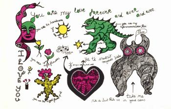 Niki de Saint Phalle-You Are my Love Forever (You are my love forever and ever and ever)-1970