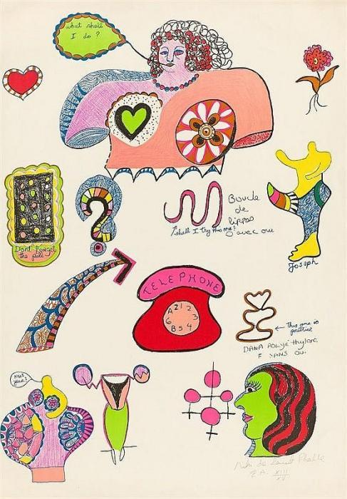 Niki de Saint Phalle-What Shall I Do, (Pills)-1970