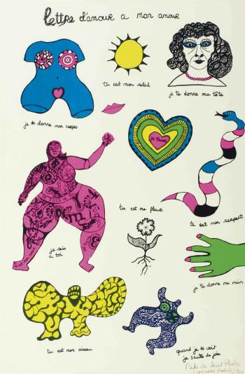 Niki de Saint Phalle-Lettre d'Amour a mon amour-1968