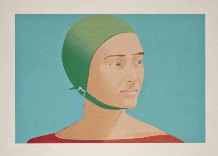 Alex Katz-The Green Cap (Schroder 186)-1985