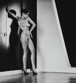Helmut Newton-Sylvia in my Studio-1979