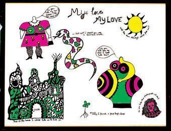 Niki de Saint Phalle-(i) My Love; (ii) Sans titre; (iii) My love we won't; (iv) My love what are you doin-