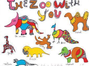 Niki de Saint Phalle-(i) The zoo with you; (ii) Dragon; (iii) Dreaming under the cactus tree; (iv) Nana; (v) Tree-
