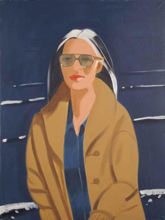 Alex Katz-Ada in the Sun (Huile Sur Toile)-1994