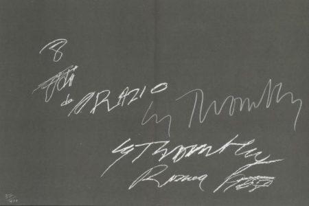 Cy Twombly-8 Odi di Orazio-1968