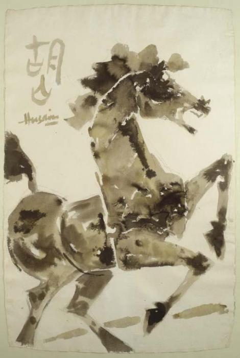 Maqbool Fida Husain-Horse-