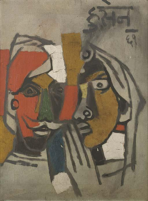Maqbool Fida Husain-Couple-
