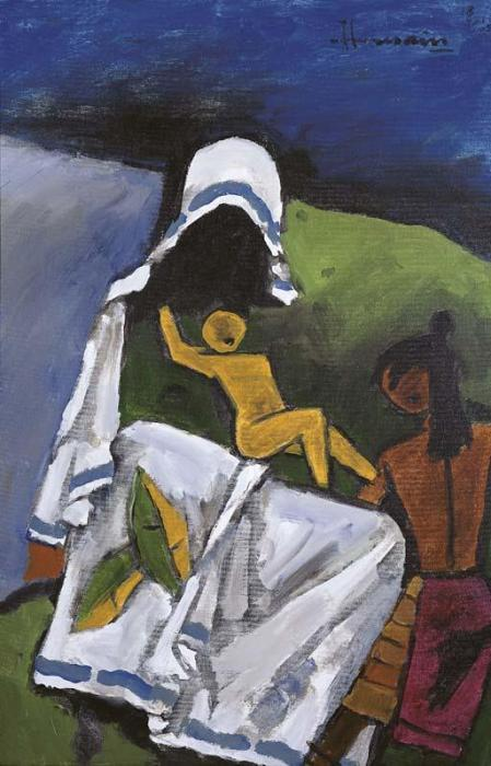 Maqbool Fida Husain-Mother Teresa-2005