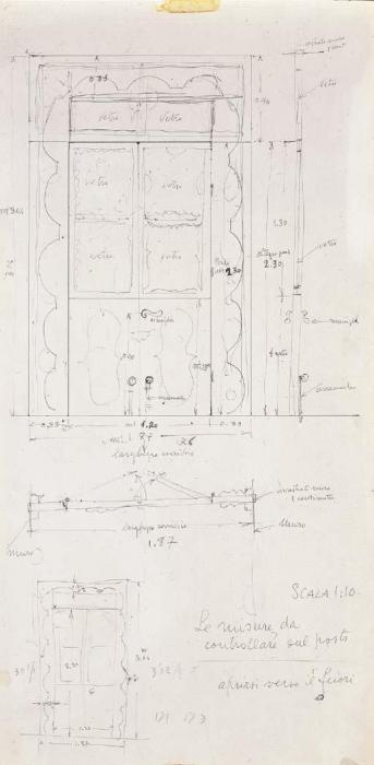 Lucio Fontana-Progetto per mobile-1966
