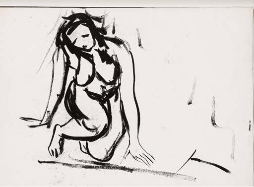 Lucio Fontana-Nudo di donna-1960