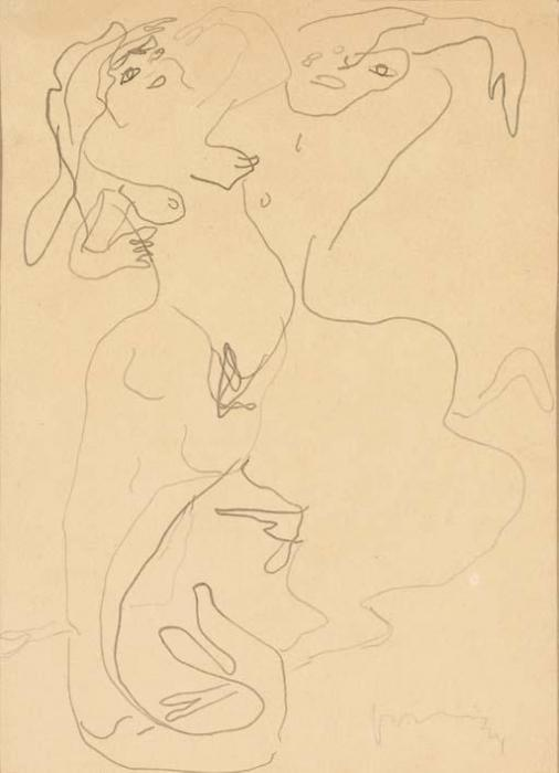 Lucio Fontana-Centauro e Sirena-1949