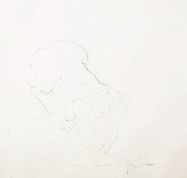 Lucio Fontana-Nudo-