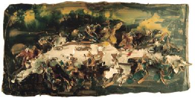 Lucio Fontana-Ultima cena-1955