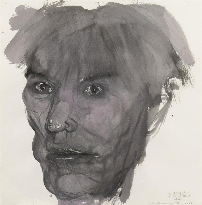 Marlene Dumas-Warhol- If He Didn't Die-2002