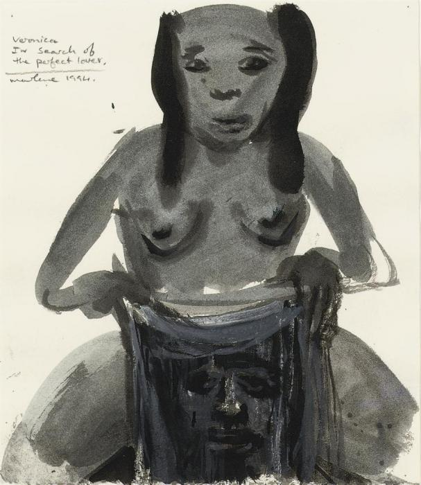 Marlene Dumas-Vernoica - In the Search of the Perfect Lover-1994