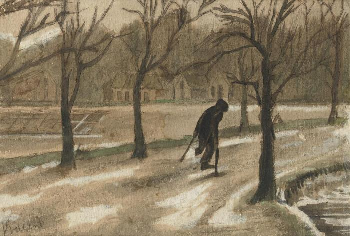 Vincent van Gogh-Winter, Ook In Het Leven (naar Jozef Israels): Winter, In Life Aswell (after Jozef Israels) (1887)-1877