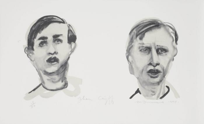 Marlene Dumas-Johan Cruyff (dubbelportret)-1997