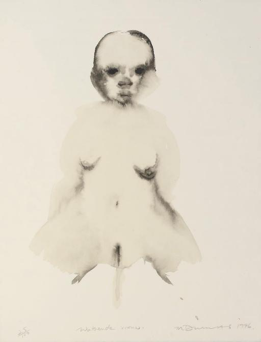 Marlene Dumas-Waterende Vrouw (Urinating woman)-1996