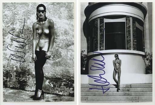 Helmut Newton-Masked, In Elastic Stocking - I-