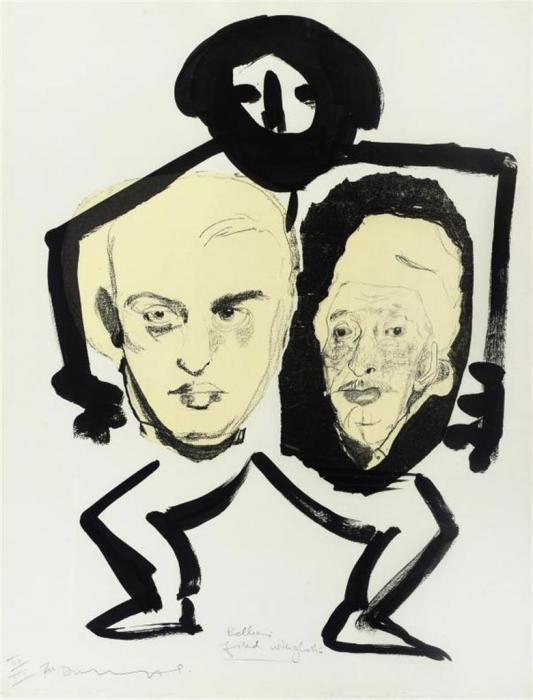 Marlene Dumas-Bellies Filled With Ghosts-1988