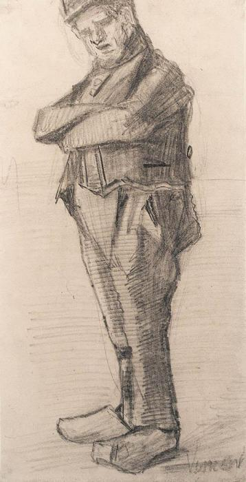 Vincent van Gogh-Standing man with folded arms-1882