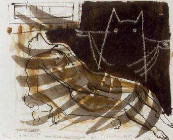 Marlene Dumas-Ghost-1986