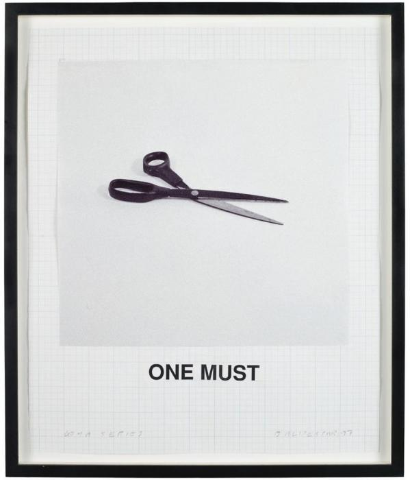 John Baldessari-Goya Series: One Must-1997