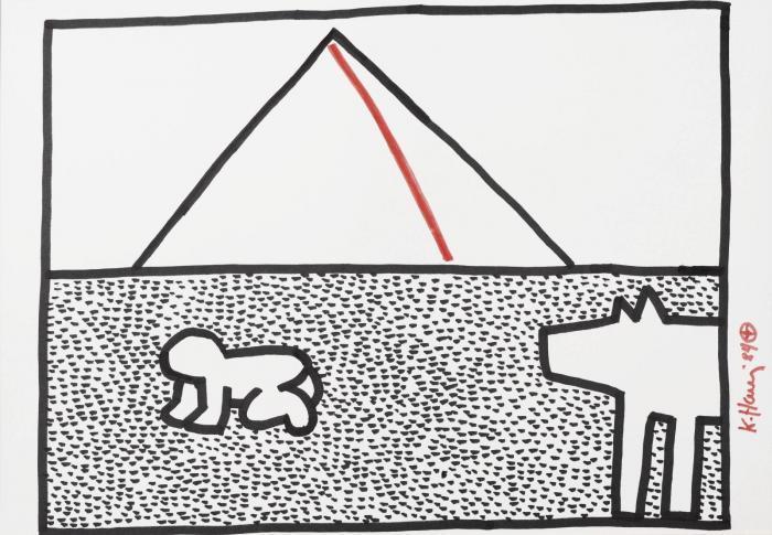 Keith Haring-Keith Haring - Pyramid-1984