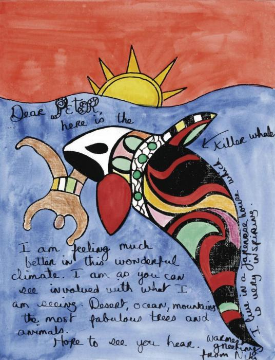Niki de Saint Phalle-Here is the killer whale-