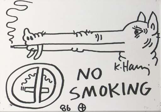 Keith Haring-Keith Haring - No smoking-1986
