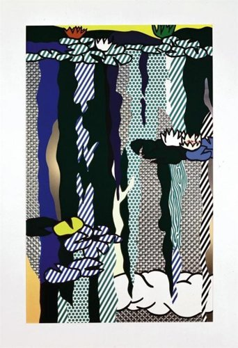 Roy Lichtenstein-Water Lilies with Cloud-1992