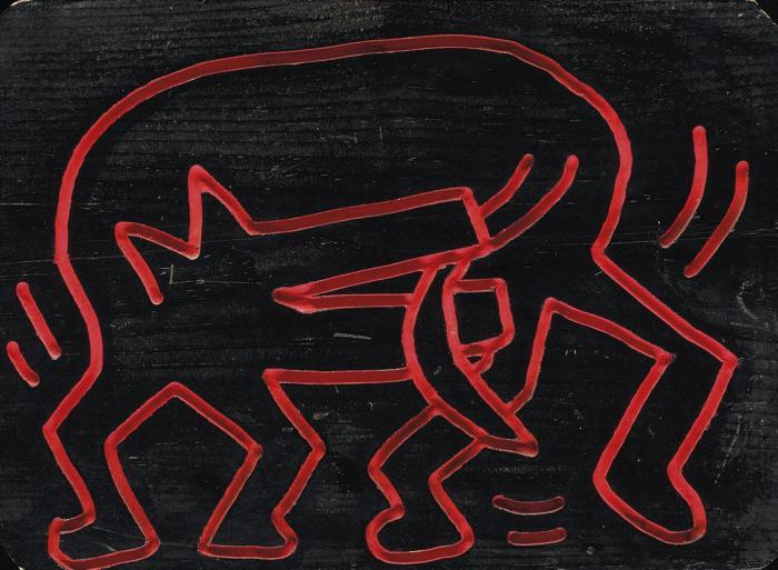 Keith Haring-Keith Haring - Doggie Bites-1983