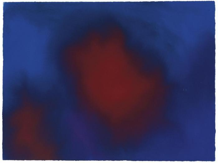 Anish Kapoor-Untitled / Composition in Blue and Red-2001