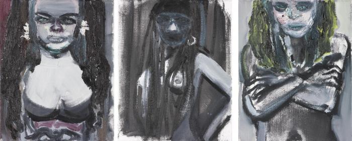Marlene Dumas-Three Female Busts From The Sixties-1993