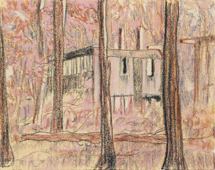Peter Doig-Untitled (Boiler House)-1996