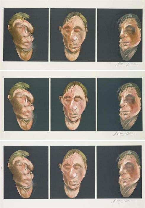Francis Bacon-Studies for Self Portrait-1983