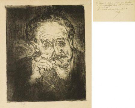 Vincent van Gogh-L'homme a la pipe : Portrait du Docteur Gachet-1890