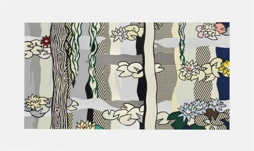 Roy Lichtenstein-Water Lilies with Willows-1992