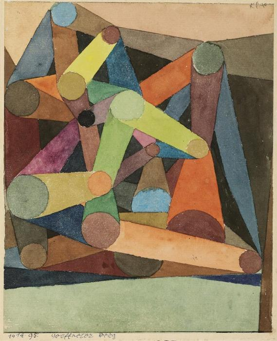 Paul Klee-Geoffneter Berg-1914