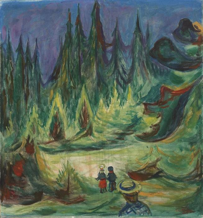 Edvard Munch-Der Marchenwald-1927