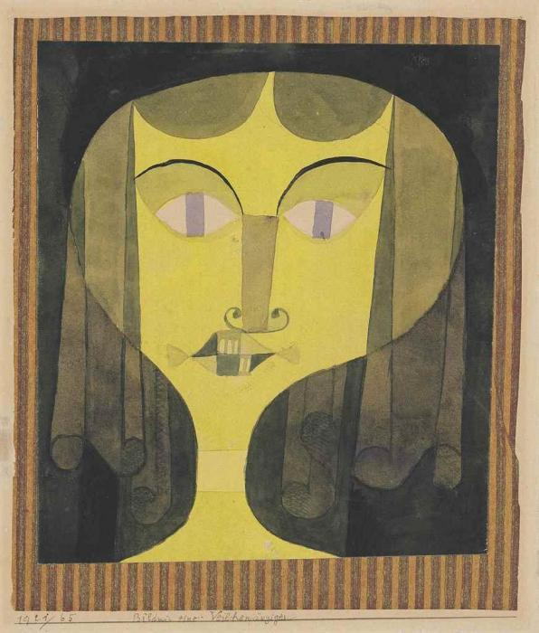 Paul Klee-Bildnis Einer Veilchenaugigen (Portrait of A Violet-Eyed Woman)-1921