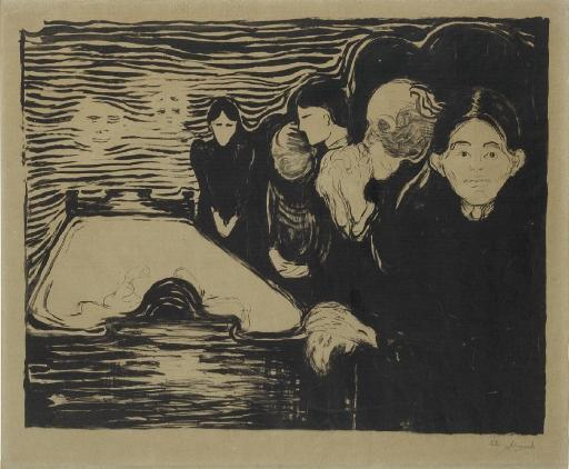 Edvard Munch-By the Deathbed (Woll 64)-1896