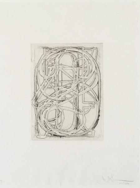 Jasper Johns-Numbers, from 1st Etchings, 2nd State (Field 83; cf. U.L.A.E. 58)-1969